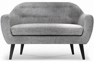 canape scandinave 2 places fidelio tissu gris clair With canapé scandinave 2 places fidelio