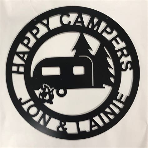 happy campers yard sign camping sign camper decor rv decor family  sign anniversary