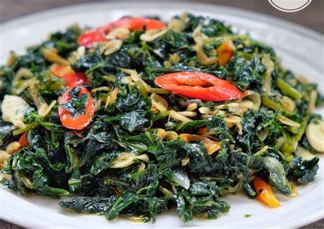 sontek  resep daun singkong  santan  sehat  lezat