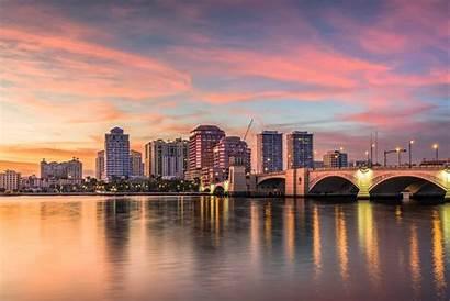 Palm Beach West Florida Usa Map Skyline