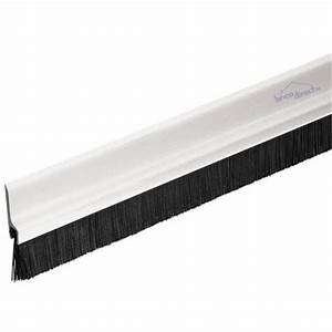 Etancheite Bas De Porte Entree : bas de porte pvc 1m avec brosse blanc geko staff ~ Premium-room.com Idées de Décoration