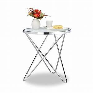 Beistelltisch Glas Chrom : relaxdays beistelltisch glas medium chrom milchglas couchtisch kaffeetisch stahl hbt 57 ~ Markanthonyermac.com Haus und Dekorationen