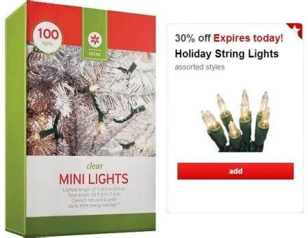target mini lights as low as 1 74 today only