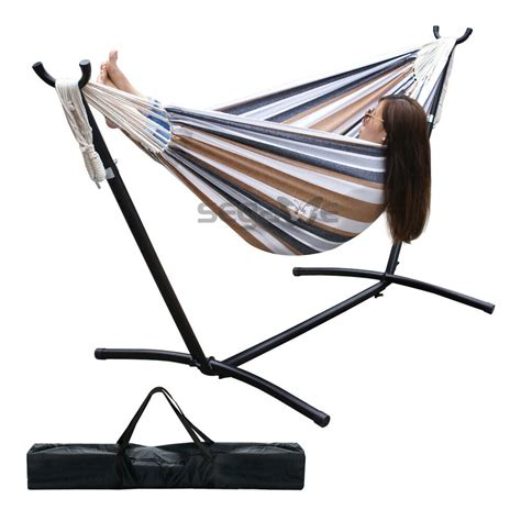 Hammock Metal Stand by Hammock With Space Saving Steel Stand With Carrying