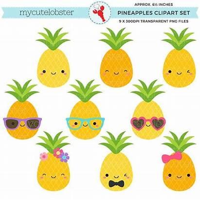 Pineapple Clipart Summer Pineapples Clip Tropical Fun