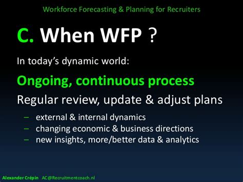 Workforce Forecasting & Planning Introduction For