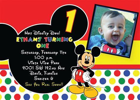 mickey mouse st birthday invitations ideas mickey