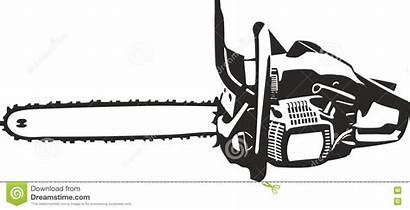 Chainsaw Clip Vector Illustration Illustrations Isolated Lines