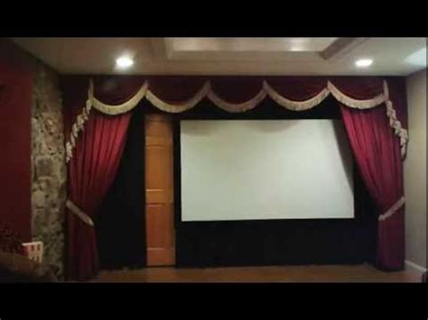 home theater drapes motorize your drapery and automate your home theater