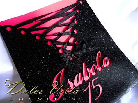 vntg 4 pc 39 s dolce vitta convites convite de 15 anos cod 090