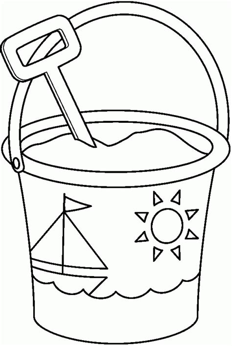 Kleurplaat Strandstoel by Pail And Shovel Coloring Page Coloring Home