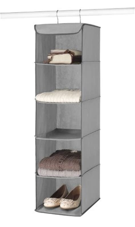 Whitmor 5 Section Closet Organizer  Hanging Shelves With