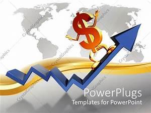 Powerpoint Template  The Dollar Sign On The Growth Arrow