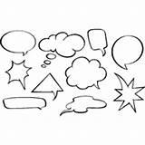 Speech Bubbles Bubble Vector Coloring Pages Vectors Cartoon Symbols Signs Royalty Surfnetkids sketch template