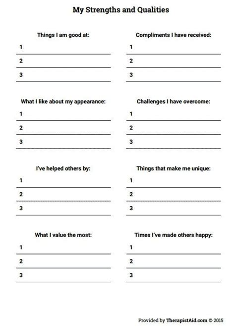 25+ Best Ideas About Self Esteem Worksheets On Pinterest  Self Esteem Kids, Self Esteem