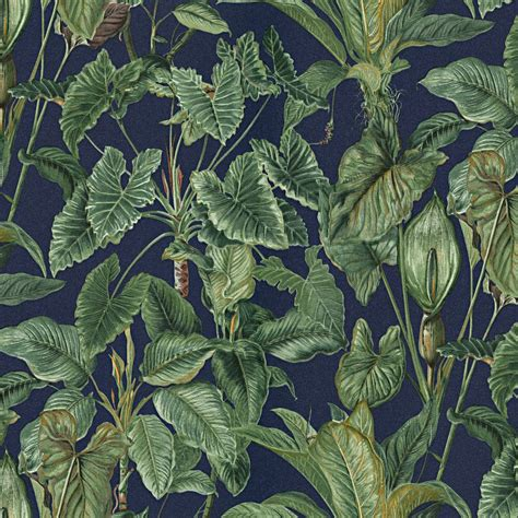 erismann paradiso tropical leaves pattern wallpaper jungle