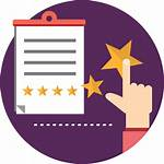 Icon Feedback Rating Report Star Icons Process