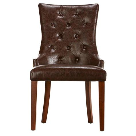 home decorators collection brown leather tufted