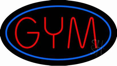 Neon Gym Sign Signs Animated Business