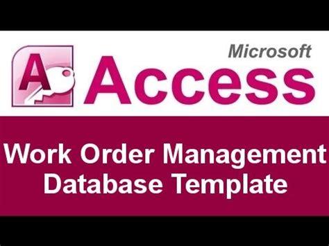 microsoft access work order management  template