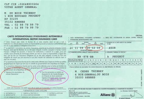 numero de carte verte assurance auto 224 quoi sert la carte verte assurance auto sur autocadre