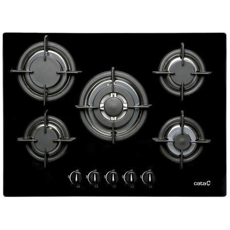 plaque de cuisson gaz 5 foyers noir cata apelson l705ci
