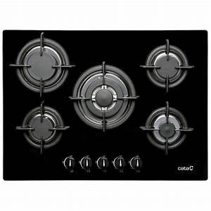 Plaque De Cuisson Gaz Conforama : plaque de cuisson gaz 5 foyers noir cata apelson l705ci ~ Melissatoandfro.com Idées de Décoration