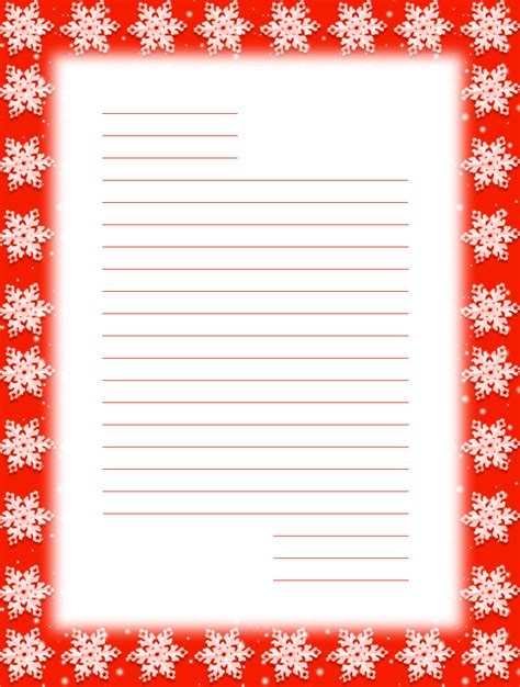 christmas letter paper template lined search results