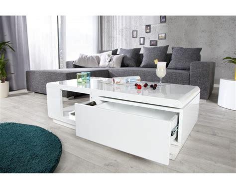 table basse bois et laque blanc table basse avec rangement coloris blanc laque et bois ezooq