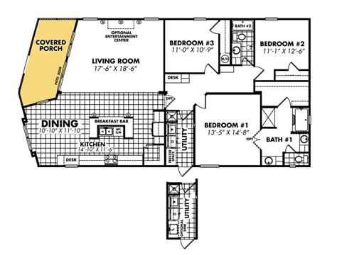 Mobile Home Floor Plans Double Wide