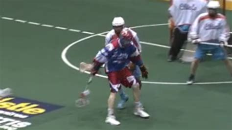 lacrosse player scores goal   incredible
