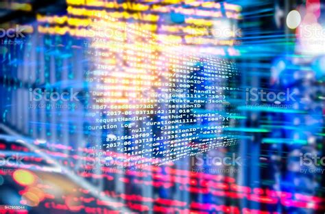 Program Code With Abstract Technology Background Stock ...