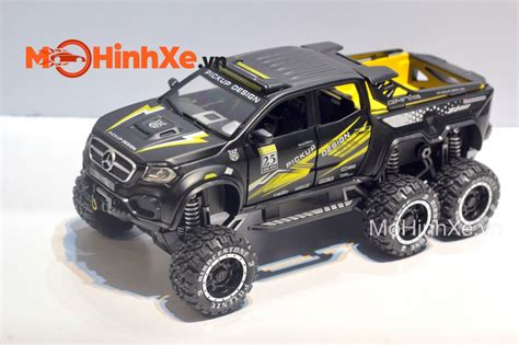 The classic character of the car has been marked with nappa leather, was stated on the page of the exy extreme. Mô hình xe Mercedes X-Class EXY Monster X 6x6 Off-Road 1:28 Chimei Model | MoHinhXe.vn