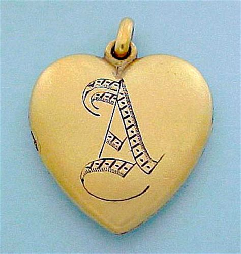 victorian  antique heart shaped jewelry