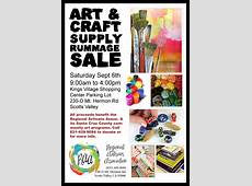 Art & Craft Supply Rummage Sale My Scotts Valley