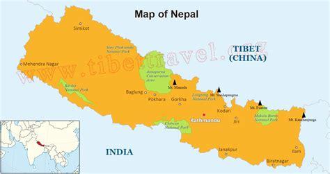 nepal located  map nepal map  asia  world
