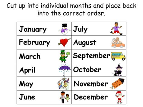 number names worksheets 187 worksheets on months of the year