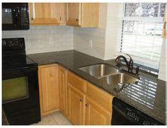 kitchen tile backsplash images oak cabinet subway tile granite countertops 6239