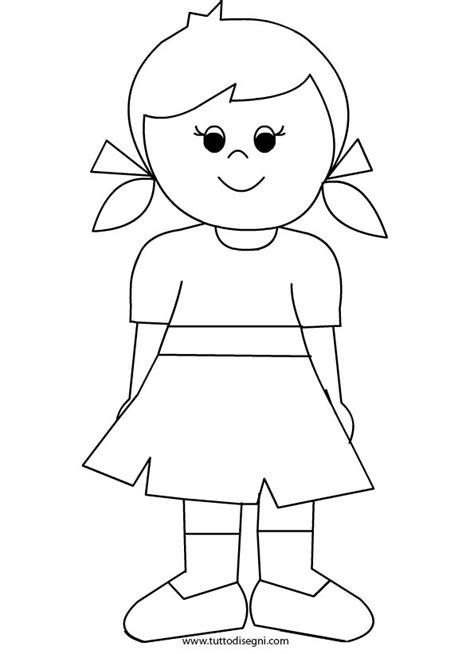 disegni bambina da stare e colorare bambina con vestito da colorare tuttodisegni