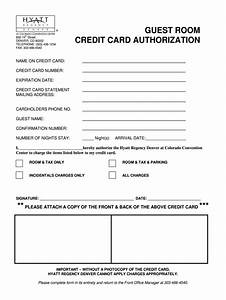 Blank Credit Card Authorization Form Template Hyatthouse Thirdparty Creditcard Authorization Fill