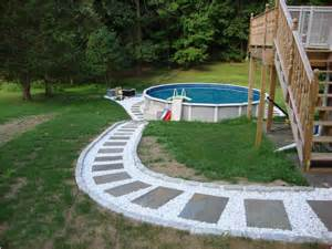 backyard landscape ideas with above ground pools home
