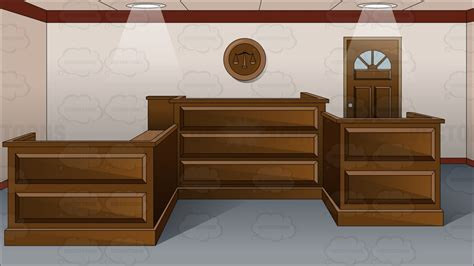 home interior design software free inside an empty courtroom clipart