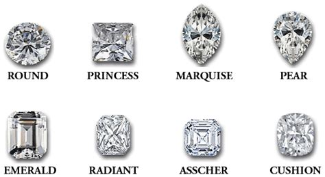what is shape 10 most popular shapes of diamonds