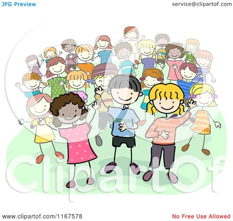 Cartoon of a Group of Diverse Children - Royalty Free ...