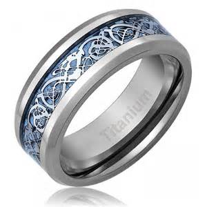 titanium wedding rings for 39 s celtic titanium wedding ring engagement band blue 8 mm comfort fit 2506254 weddbook