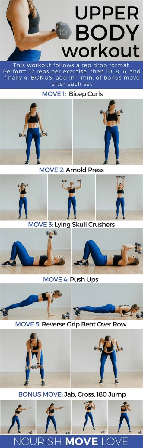upper body exercises  women arm workout