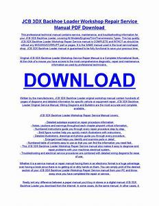 Jcb 3dx Backhoe Loader Service Repair Workshop Manual