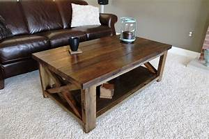 ana white rustic x coffee table diy projects With white rustic coffee table set