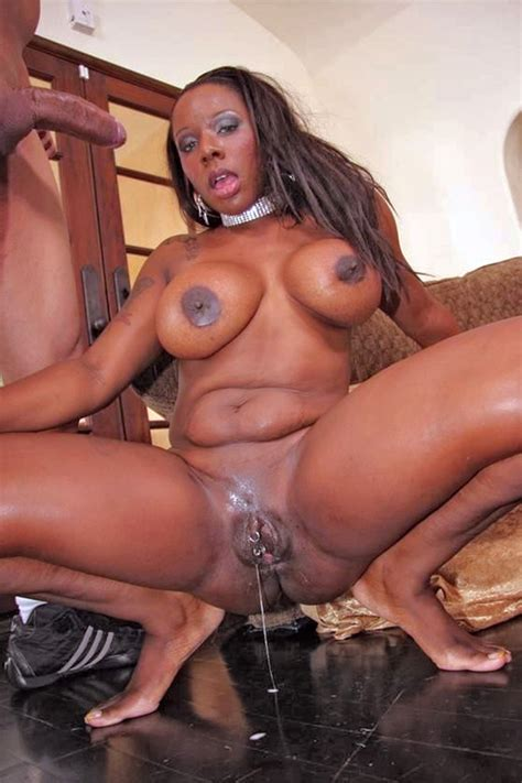 black pussy dripping with cum