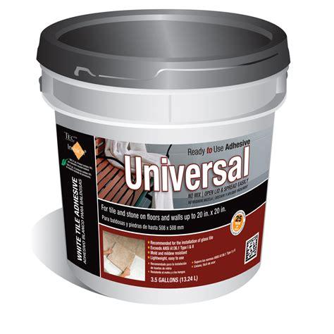 shop tec 3 5 gallon trowel tile adhesive at lowes